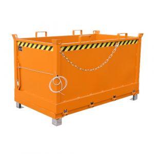 Benne à fond ouvrant 1500 L - orange
