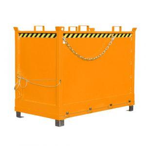 Benne à fond ouvrant 2000 L - orange