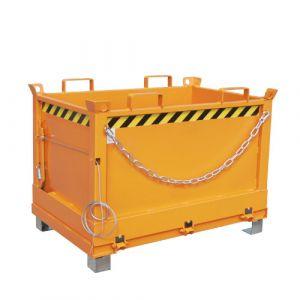 Benne à fond ouvrant 500 L - orange