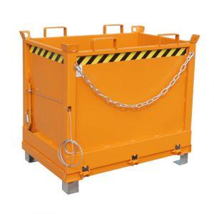 Benne à fond ouvrant 750 L - orange
