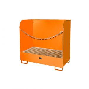 Dépôt pour produits dangereux, protections latérales -orange