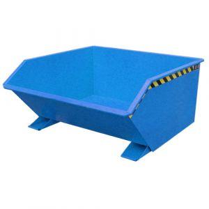 Benne basculante 750 L - bleu