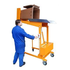 Basculeur/Élévateur de poubelle electro-hydraulique - orange