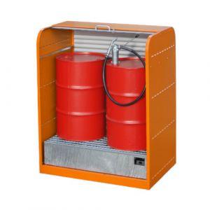 Armoire à volet roulant 2x200 L - orange