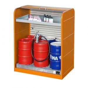 Armoire à volet roulant 6x60 L et 1 bac de rétention - orange