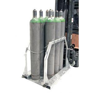 Palette pour bouteilles de gaz acier, 8 bouteilles