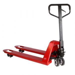Transpalette manuel 2500 kg roue caout ø 200 fourche 1150 mm