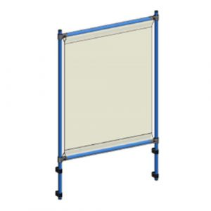 Panneau protection anti-projection sur servante ou chariot 1206x1410 mm