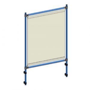 Panneau protection anti-projection sur servante ou chariot 916x1410 mm