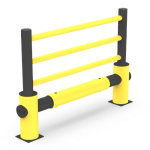 Barrière haute PEHD 1 rail 3 lisses