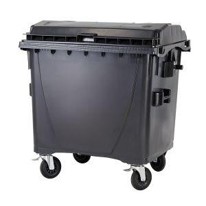 Conteneurs poubelle à déchet 4 roues 1100 Litres