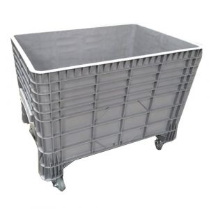 Caisse plastique parois fond pleins avec roulettes 550 litres