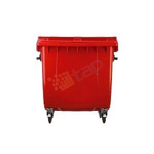 Conteneur à déchets 4 roues 1100 L rouge