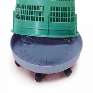 Embase à roulette pour support de sacs poubelle de  110 L