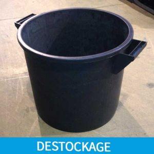 Bac plastique rond 35 L noir