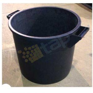 Bac plastique rond 75 L noir