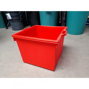Bac plastique industriel 60 L rouge [DESTOCKAGE]