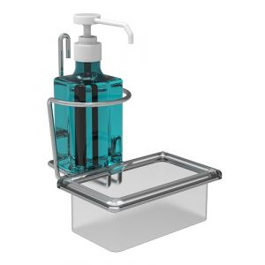 Support  pour flacon de gel de 0,5L et 1L avec anti-goutte (lot de 10)