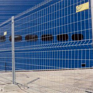 Barrière de chantier galvanisée