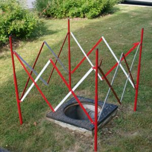 Barrière extensible carrée acier