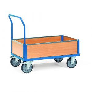 Chariot multifonctions caisse en bois 850x500 mm