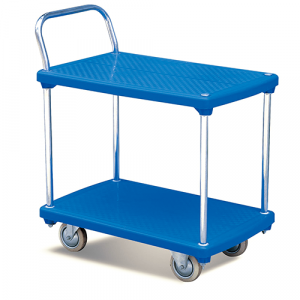 Chariot plastique à deux plateaux