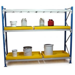 Rayonnages pour produits polluants, module largeur 2250 mm