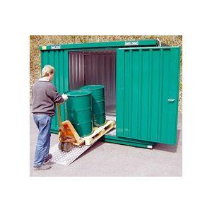 Option rampe de chargement pour bungalows de stockage