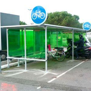 Abri 16 vélos toiture plate