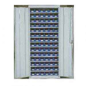 Armoire à bacs à bec - 84 bacs transparents