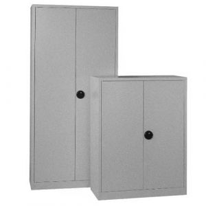 Armoire basse portes battantes monobloc