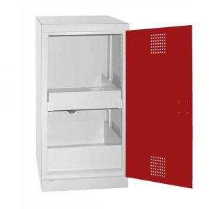 Armoire de sureté basse 1 porte Rouge