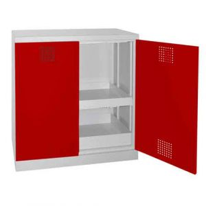 Armoire de sureté basse 2 portes Rouge