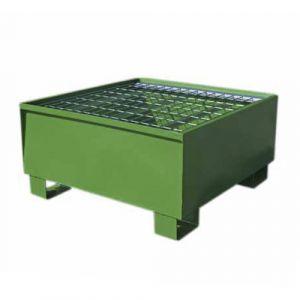 Bac de rétention pour 1 fût laqué vert avec caillebotis Wireline®