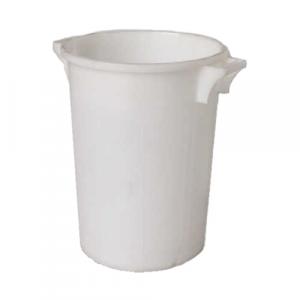 Bac plastique rond 50 litres blanc