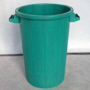 Bac plastique rond 75 litres vert