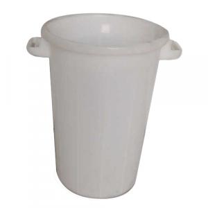 Bac plastique rond 75 litres blanc