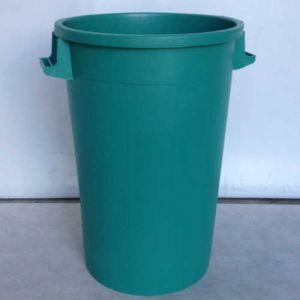 Bac plastique rond 120 litres vert