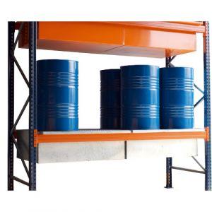 Bac de rétention sans caillebotis sur lisse 1500- L 3600 mm