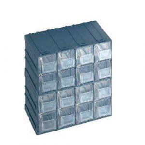 Lot de 4 blocs modulables fixes avec 16  tiroirs