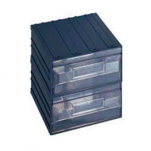 Lot de 4 blocs 2 tiroirs de rangement fixe