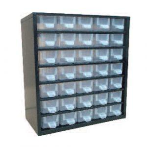 Bloc fixe casier de rangement 35 tiroirs