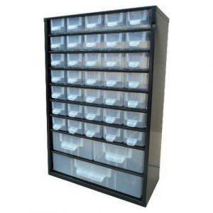 Bloc tiroirs fixe avec 38 compartiments de rangement