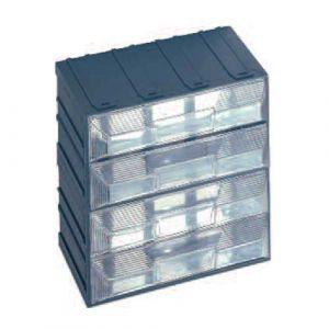 Lot de 4 blocs fixes de rangement composé de 4 tiroirs