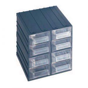 Lot de 4 blocs fixes et modulables 8 tiroirs de rangement
