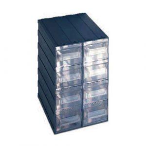 Lot de 2 blocs 8 tiroirs de rangement fixe