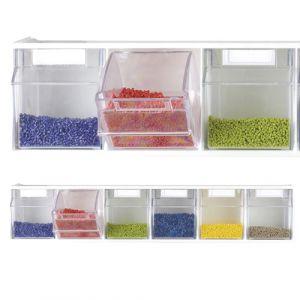 Blocs tiroirs muraux superposables (9 pièces)