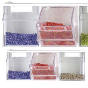 Blocs tiroirs muraux superposables (3 pièces)