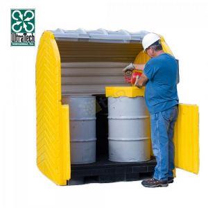 Box de stockage en PEHD pour 2 fûts
