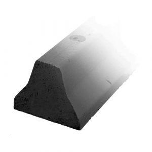 Butée de protection au sol simple en gomme noire